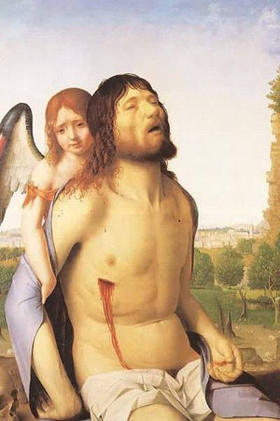 the dead christ supported by an angel 1475 78 XX museo del prado madrid